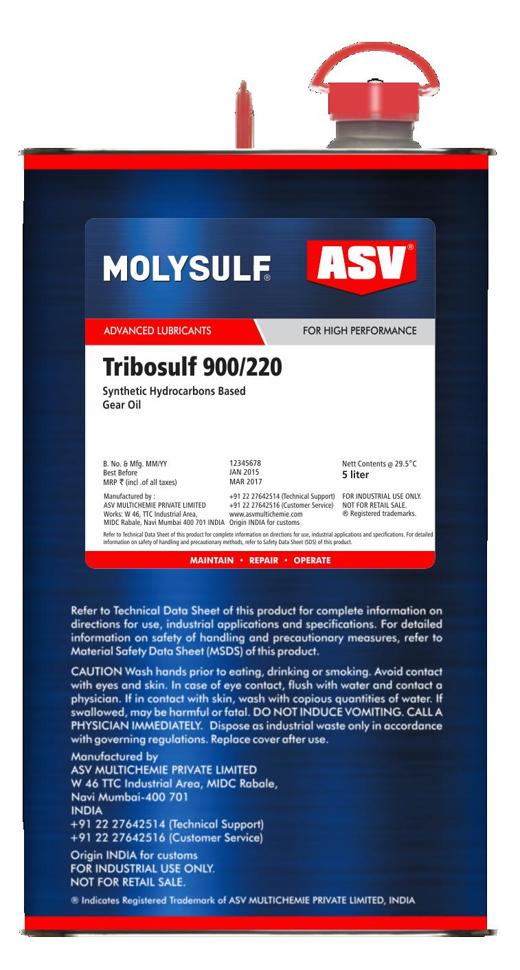 Tribosulf 900 Oils