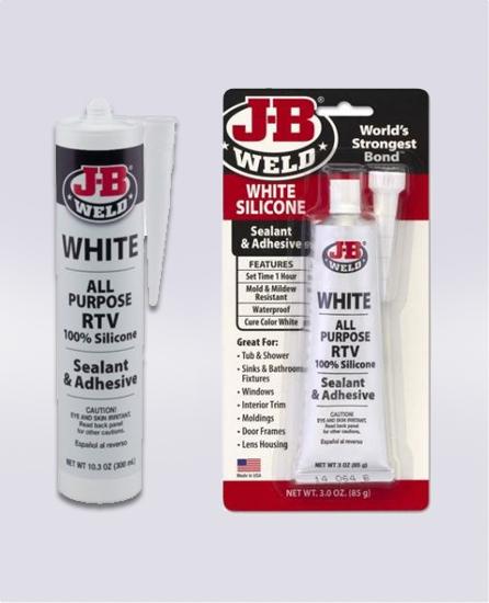 WHITE SILICONE SEALANT & ADHESIVE (SKU: 31312) & (SKU: 31912)